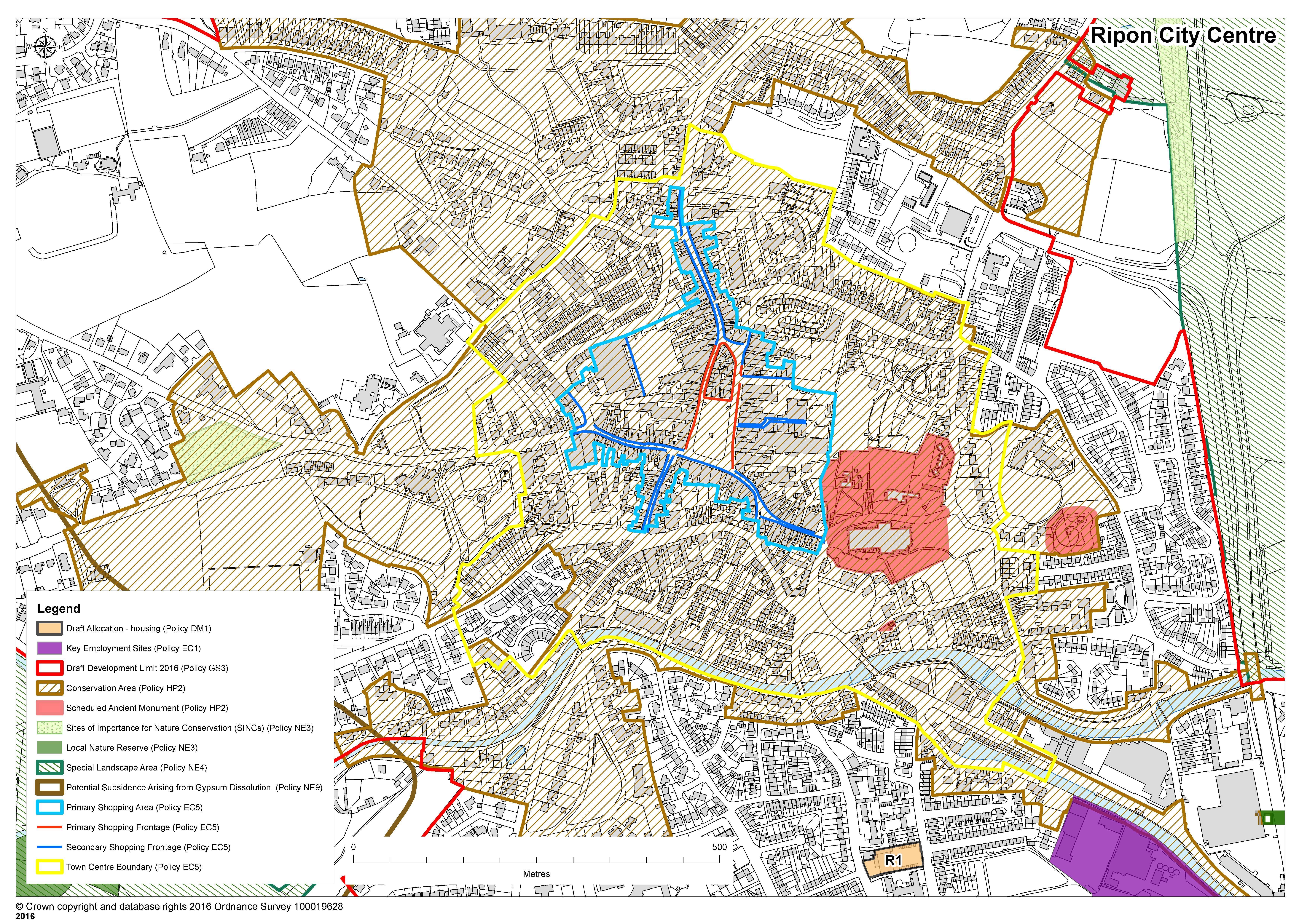 Map of Ripon City Centre City Centre Map on